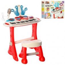 Детский синтезатор (пианино) со стульчиком со световыми эффектами от ТМ WinFun, 37 клавиш арт. 2072