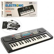 Детское пианино - синтезатор с микрофоном и функцией записи, 37 клавиш, 8 тонов, 6 демо-мелодий арт. 430