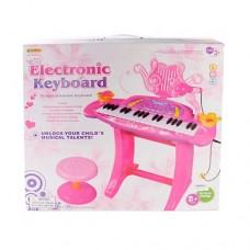 Детский синтезатор - пианино на ножках со стульчиком, 36 клавиш, микрофоном, со световыми эффектами арт. 5050