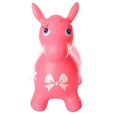 Детская надувная резиновая игрушка Ослик для прыжков и развития координации, нагрузка до 25 кг, 60х30х48см