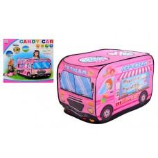Детская Игровая Палатка для дома и улицы Машина мороженое, вход на липучках, 3 окна, 112х72х72 см, арт. 3716