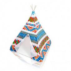 Детская игровая палатка- вигвам от ТМ Intex для дома и улицы, размер палатки 122x122x157 см арт. 48629