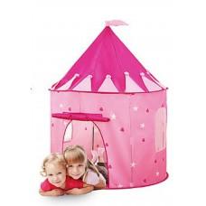 Детская Палатка-Шатер для девочек с 1 входом и 2 окнами для улицы и дома 105х105х125 см, розовая арт. 3317