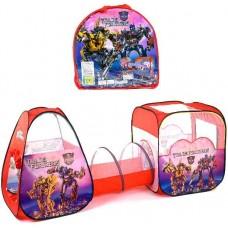 Детская Двойная Палатка с тоннелем Супергерои Трансформеры с сумкой для хранения, 270х92х92 см, арт. 8015 TF