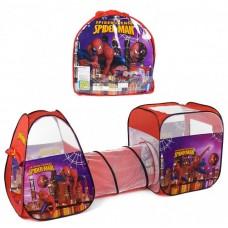 Детская Двойная Палатка с тоннелем Супергерои Человек-паук с сумкой для хранения, 270х92х92 см, арт. 8015 SP
