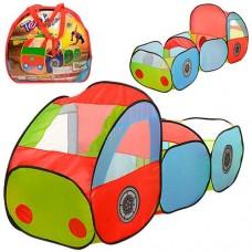 Детская Игровая Палатка для детей Машинка с прицепом, один вход на липучках, 3 окна, 185х63х90 см, арт. 3331