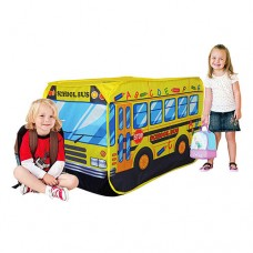 Детская палатка для детей Школьный автобус для дома и улицы, вход на липучках, окно, 110х70х70 см, арт. 3319