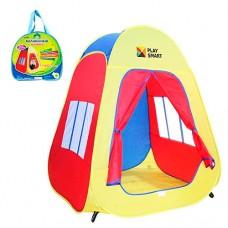 """Детская палатка """"Пирамида""""  для дома и улицы, вход - на застежке - липучке, 2 окна, размер 105-88-86 см арт. 1422"""