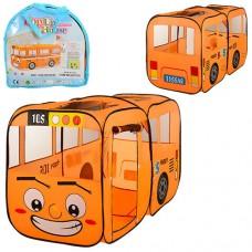 """Детская яркая игровая палатка """"Автобус"""" (один вход, окна-сетки) для дома и улицы, размер 156-78-78 смарт. 1183"""