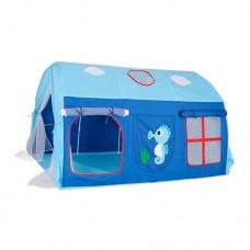 Детская Игровая Палатка Шатер для дома и улицы, на колышках, 2 входа, 3 окна, 145х106х91 см, арт. 3795