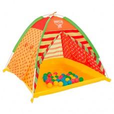Детская каркасная палатка с шариками (40 шариков) от ТМ BestWay, размер палатки 112-112-80 см арт. 68080