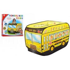 Детская Игровая Палатка Школьный автобус для дома и улицы, вход - на липучках, 3 окна, 112х72х72 см, арт. 3716