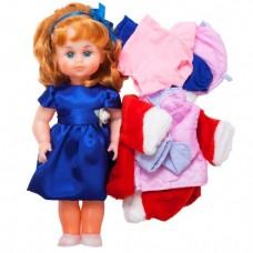 Детский Игровой набор Кукла для девочек Милана с тремя комплектами сезонной одежды, высота 43 см, Украина