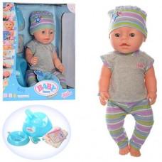 """Детская кукла-пупс многофункциональная """"Baby Born"""", высота 42 см (мальчик) арт. 030 L"""