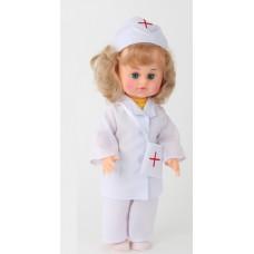 Детская игровая Кукла для девочек Милана Доктор в костюме медицинского работника с аксессуарами, высота 40см