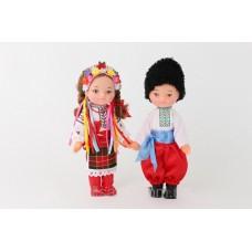 Детский Игровой Набор для девочек из двух кукол в Украинских национальных костюмах Дiти Украiни, высота 35 см