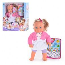 """Детская Кукла-пупс интерактивная """"Мила"""" с планшетом, высота 40 см арт. 5383"""