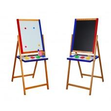 *Мольберт детский co счетами, 4 стаканчиками и бумажным полотном, длинной 2 метра, высота 123 см арт. 047