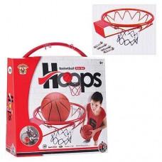Баскетбольное кольцо металлическое с сеткой для улицы и дома, диаметр кольца - 39 см. арт. 1952 43241-06 lvt-1952
