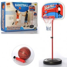 Детская Баскетбольная регулируемая Стойка со щитком и металлическим кольцом D=23см, мяч, насос высота до 160см
