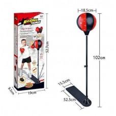 Детский Спортивный набор для Бокса для помещений и улицы: боксерская груша на стойке - высота до 102см, перчатки