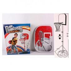 Игровой металлический набор баскетбол для улицы и дома с регулируемой стойкой, диаметр 20 см арт. 777-419 43294-06 lvt-777-419
