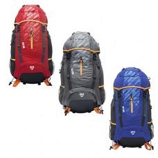 Рюкзак туристический  с множеством карманов, карманом для ноутбука, свистком, серого цвета арт. 68082 44276-06 lvt-68082