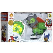 Игровой набор Щенячий Патруль: Рокки в маске и плаще со спасательными рюкзаком-трансформером и бейджем