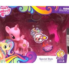 Игровой Набор для девочек Маленькая Розовая Пони с бусинами, расческой и аксессуарами для плетения косичек