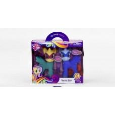 Игровой Набор фигурок Пони 2в1 для девочек: 2 стильных лошадки с аксессуарами для причесок, разноцветный