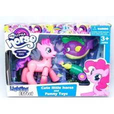 Игровой набор с фигурками для девочек Маленькая Розовая Пони со световыми эффектами и сгибающимися ножками