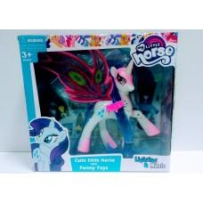 Игровая фигурка для девочек Милая Пони со съемными крыльями, сгибающимися ножками и свето-звуковыми эффектами