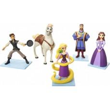 Игровой набор из 5 фигурок: Рапунцель, Флин Райдер, Король с Королевой и конь Максимус - Tangled, Jakks Pacific