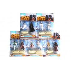Игровой набор коллекционных Фигурок Герои STAR WARS, 5 видов, 2 героя с оружием на подставке высота 13 см