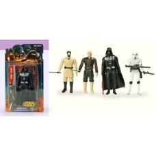 Игровой набор Коллекционных Фигурок Герои Star Wars, 4 вида, 4 героя на планшетке, с оружием, 15,5х4х29 см 42969-05 lt-НТ15171