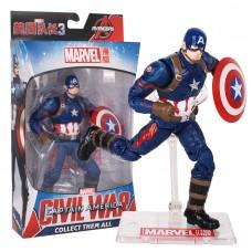 Игровая коллекционная Фигурка Капитан Америка Мстители, высота 18 см подставка Captain America Avengers Marvel
