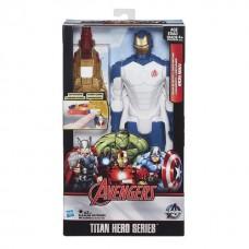 Большая игрушка Железный Человек 30 см, серии Титаны (свет. эффекты) - Beam Blaster Iron Man, Titans, Hasbro