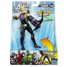 Стреляющая фигурка Соколиного Глаза с боевым оружием - Hawkeye, Avengers, Assemble, Squeeze Legs, Hasbro Подро