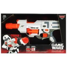 Игровой Бластер для мальчиков: игрушечное оружие Снайперский огонь, 12 пуль - Game Wars Super Hero Series