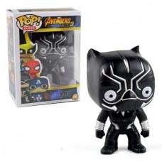 Коллекционная Игровая Фигурка Черная пантера со светом Фанко Поп, 10 см, ПВХ - Funko POP Marvel Avengers Black Panter