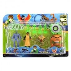 Набор Коллекционных игровых фигурок для мальчиков Бен 10 с часами, 8 фигурок - Ben Ten, Ultimate Alien Playmates