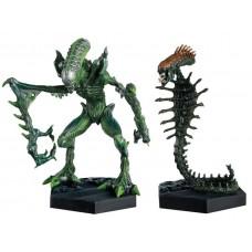 Игровая коллекционная Фигурка Чужой Скорпион с подвижными частями тела, 17 см - Snake Alien Attack Jaw Neca