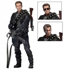 Игровая коллекционная Фигурка Терминатор T-800 с аксессуарами, 18 см - Battle Across Time Terminator 2, Neca