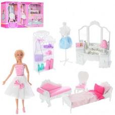 Детский Игровой Набор мебели Комната Принцессы AnLily с куклой 28 см, кровать, трюмо, аксессуары арт. 99045 43650-06 lvt-99045