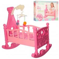Игрушечная кроватка с постелью и мобилем для кукол Yale Baby, длина кровати 50 см  арт. 2000B 48920-06 lvt-2000B