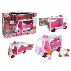 Игровой набор для девочек Фургон Закусочная с уличной едой с 2 куколками, мебель, посуда, продукты ЛОЛ LOL