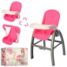 Игрушечный стульчик для кормления куклы Baby Born, размер стульчика 43-26 см арт. YL2000E 48914-06 lvt-2000E