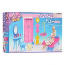 Игровой Набор мебели Гардеробная для куклы до 29 см (подходит для Барби), шкаф, туалетный столик, арт. 2909 43816-06 lvt-2909