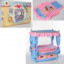 Детская игрушечная Кровать-Комод для куклы с балдахином и постельными принадлежностями Hauck, 44х50х27 см