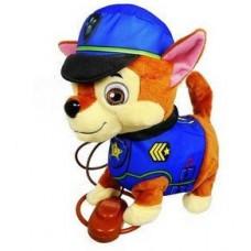 Интерактивная игрушка Собачка Гонщик Чейз Щенячий патруль на поводке: ходит, виляет хвостом, лает, поет